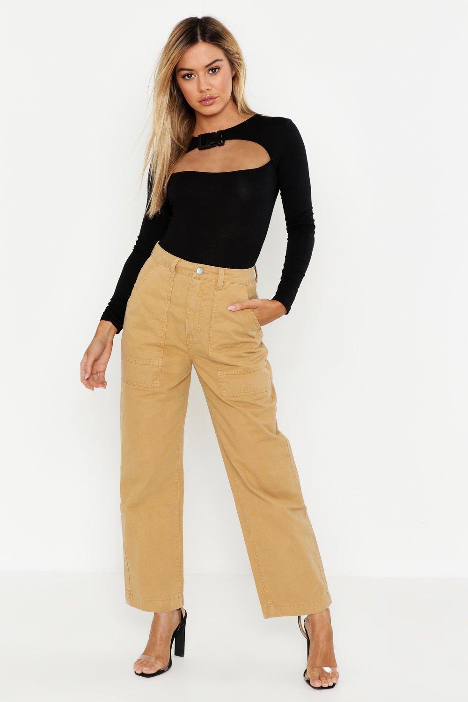 Купить Jeans, Petite - Прямые джинсы с практичным карманом, boohoo