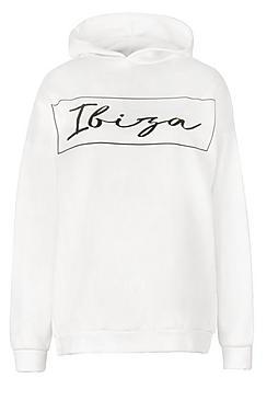Plus Ibiza Oversized Hooded Sweat