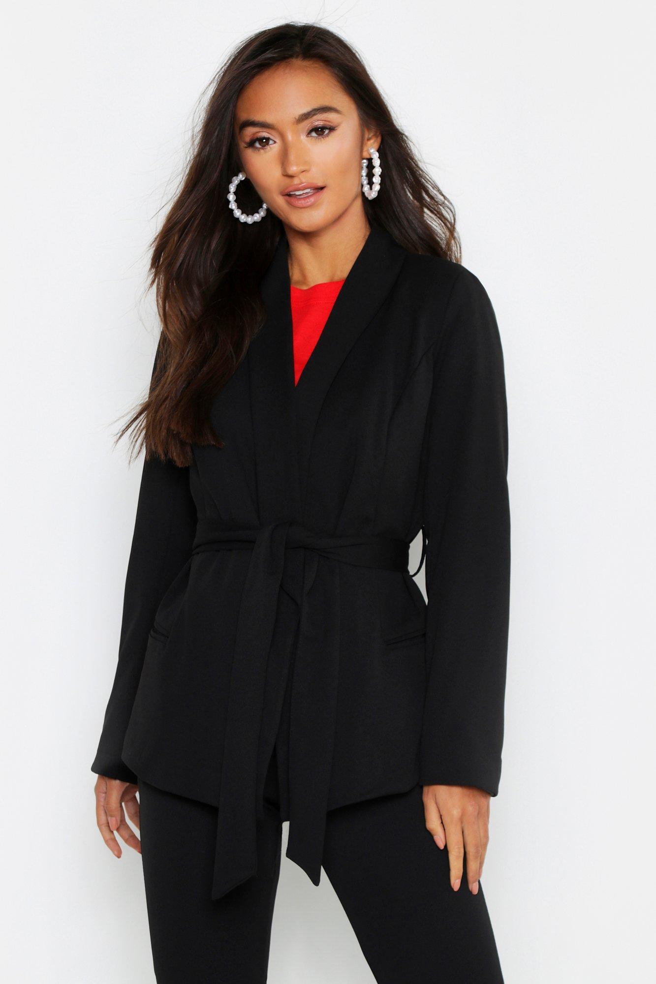 Купить Coats & Jackets, Из коллекции <Petite> Блейзер с завязками на талии, boohoo