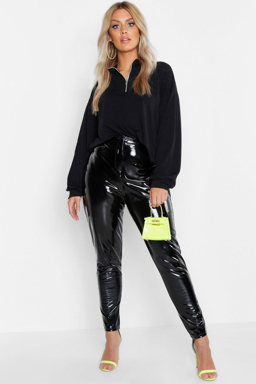 Womens Plus Sweatshirt mit Reißverschluss - schwarz - 46, Schwarz - Boohoo.com