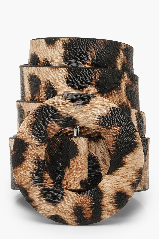 Купить Accessories, Plus Leopard Faux Fur O Ring Boyfriend Belt, boohoo