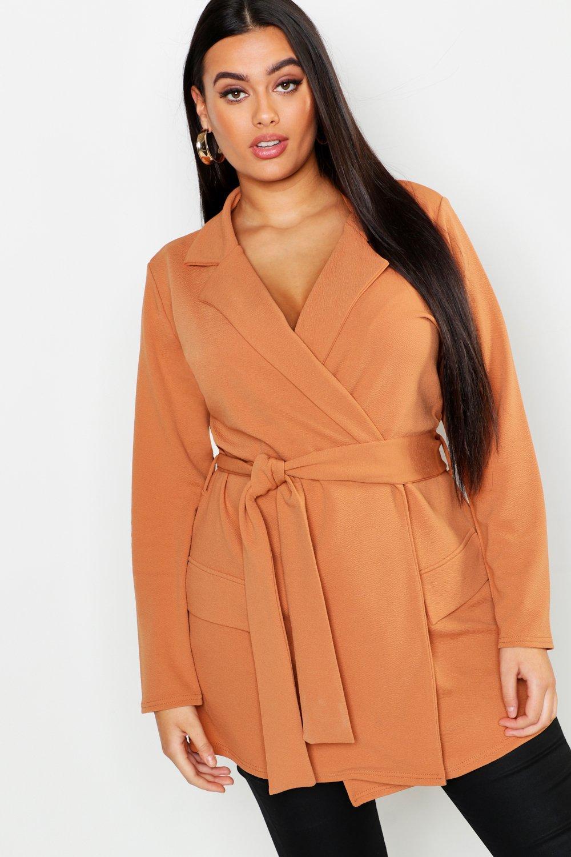 Купить Coats & Jackets, Plus Oversized Tie Blazer, boohoo