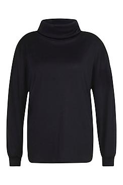 Plus Ribbed Roll Neck Sweat Top