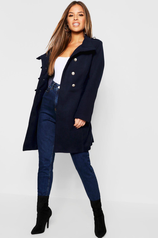 Купить Coats & Jackets, Petite Look Пальто из шерсти в стиле милитари, boohoo