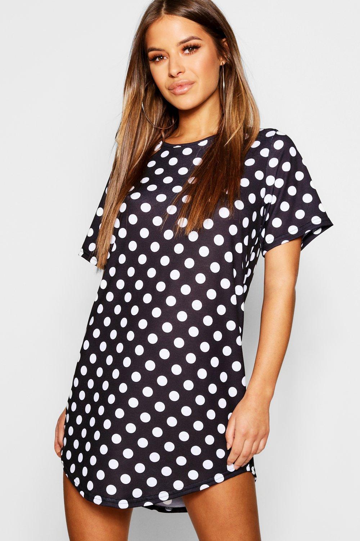 Купить Nightwear, Petite - ночная сорочка футболка в горошек, boohoo