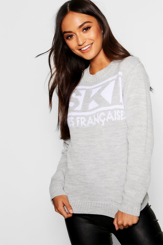 Купить Knitwear, Новый джемпер из коллекции Petite со слоганом Ski, boohoo
