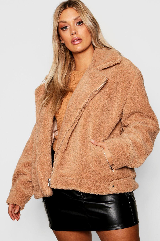 Купить Пальто и куртки, Куртка-пилот из коллекции <Плюс сайз> с искусственным мехом, boohoo