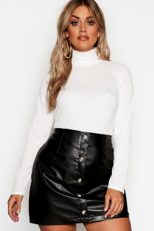 Womens Plus Pullover mit Rollkragen - elfenbeinfarben - 48, Elfenbeinfarben - Boohoo.com