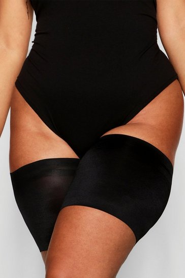 Black Plus 2 Pack Anti Chafing Thigh Bands