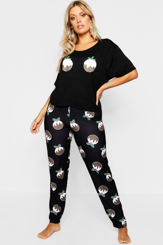 Купить Nightwear, Рождественская пижама Pudding из коллекции <Плюс сайз>, boohoo
