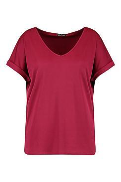 Plus Basic Rib Oversized T-Shirt