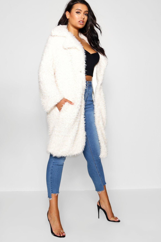 Купить Coats & Jackets, Пальто из искусственного меха с длинными рукавами размера плюс, boohoo