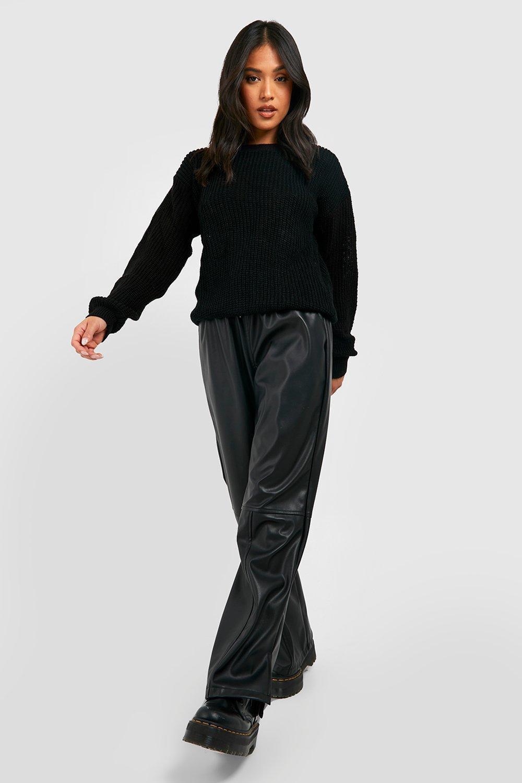 Womens Petite - Oversized Pullover - schwarz - 38, Schwarz - Boohoo.com