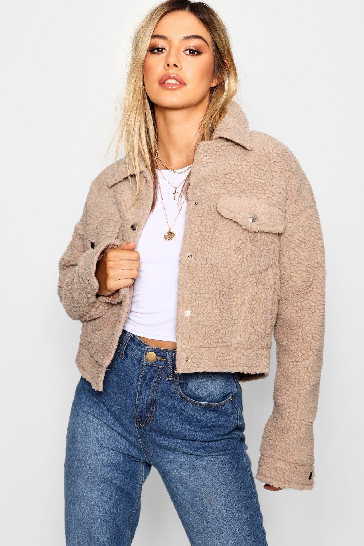 Купить Coats & Jackets, Куртка-тракер из искусственного меха из коллекции <Petite>, boohoo