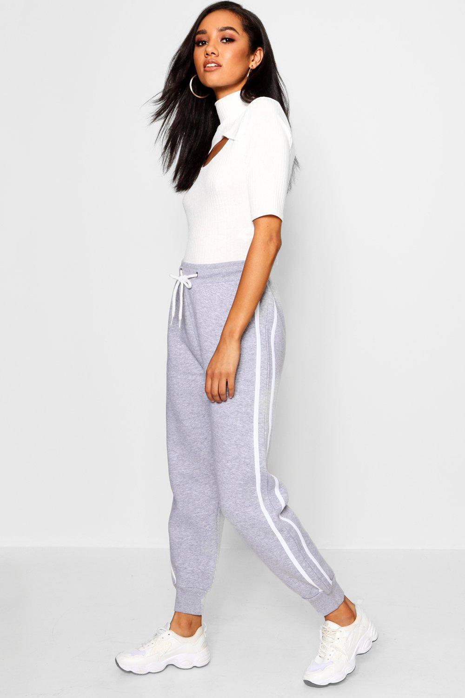 Купить Trousers, Флисовые брюки для бега с полосками по бокам из коллекции <Petite>, boohoo