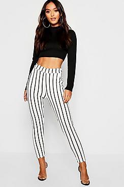 Petite pantaloni a righe con due tasche