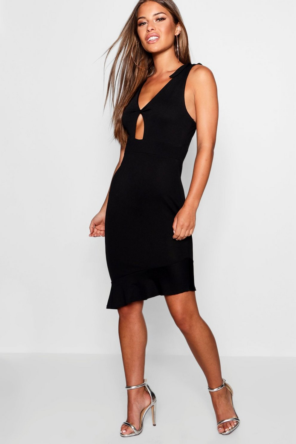 Buy Cheap Brand New Unisex Boohoo Petite Ruffle Asymmetric Hem Dress Clearance Outlet Store Get Where To Buy Cheap Real Discount Footlocker Pictures GT9xt