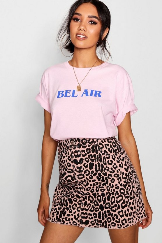 T-shirt con slogan Belle Air Petite