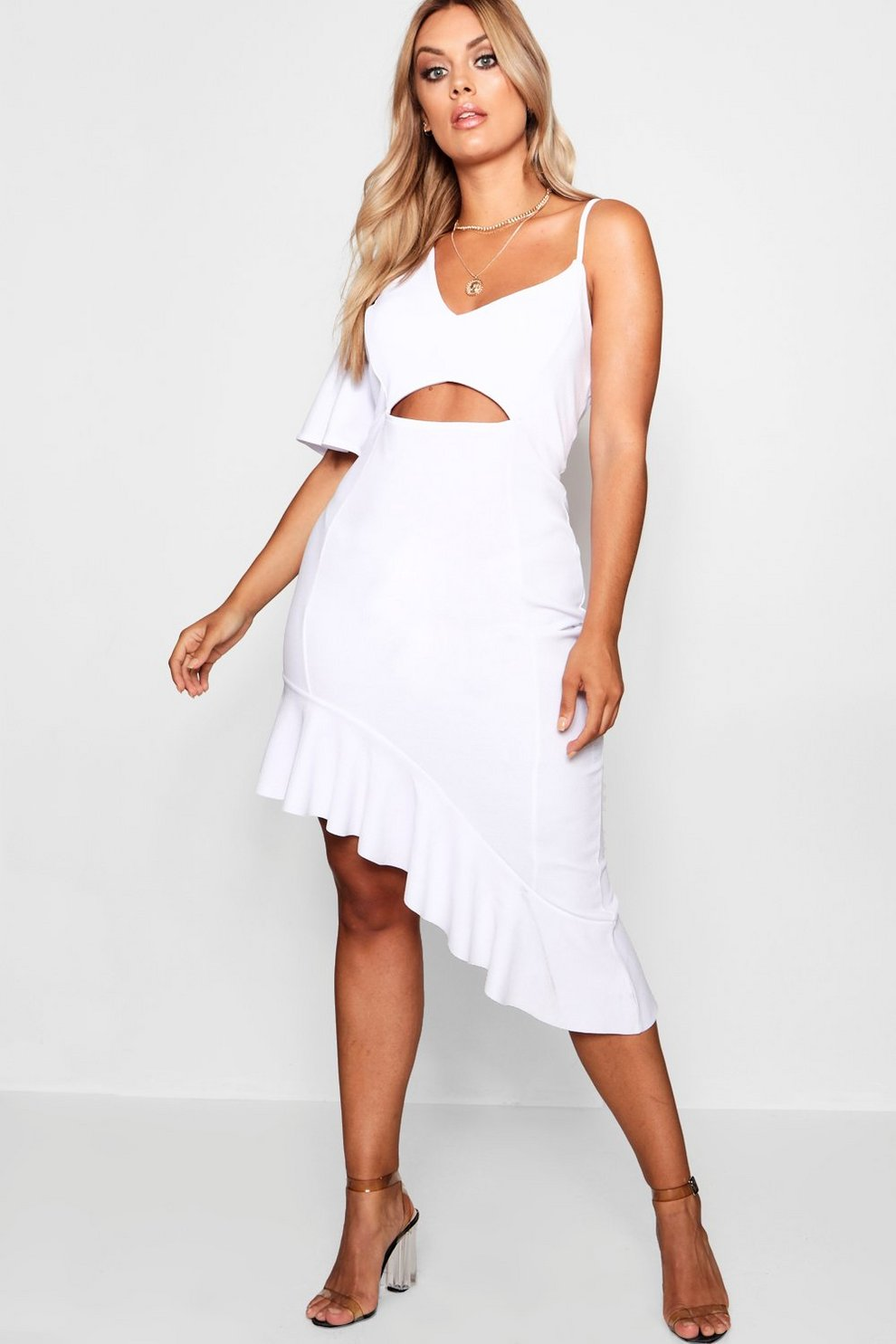 Sale Low Price Fee Shipping How Much Sale Online Boohoo Plus Terri Lace Detail Ruffle Maxi Dress bRdw4pt