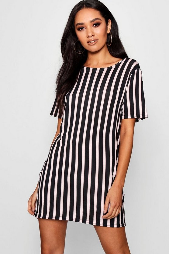 Petite Striped T Shirt Dress