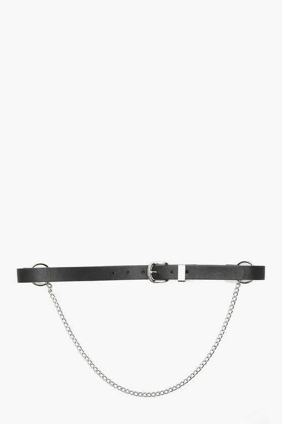 Plus Nancy Ring + Chain Boyfriend Belt