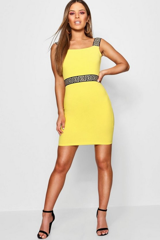 Petite Tape Detail Bodycon Dress