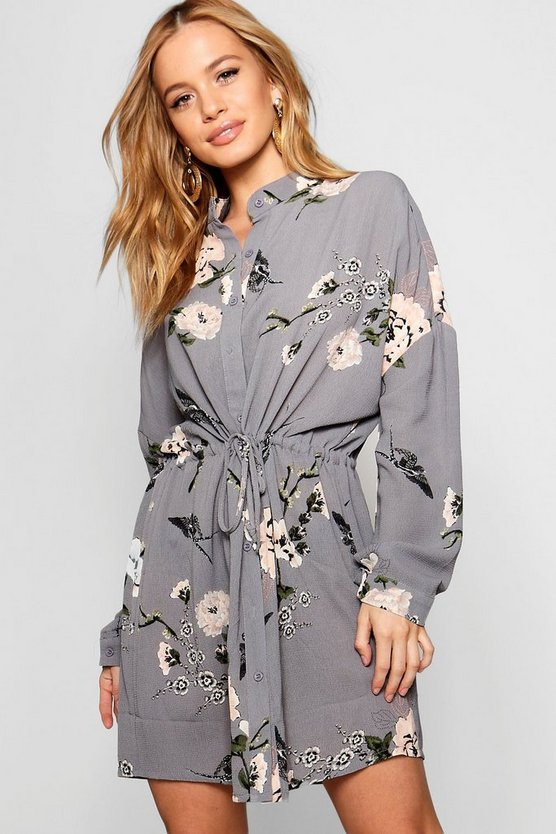 Petite Brooke Floral Shirt Dress