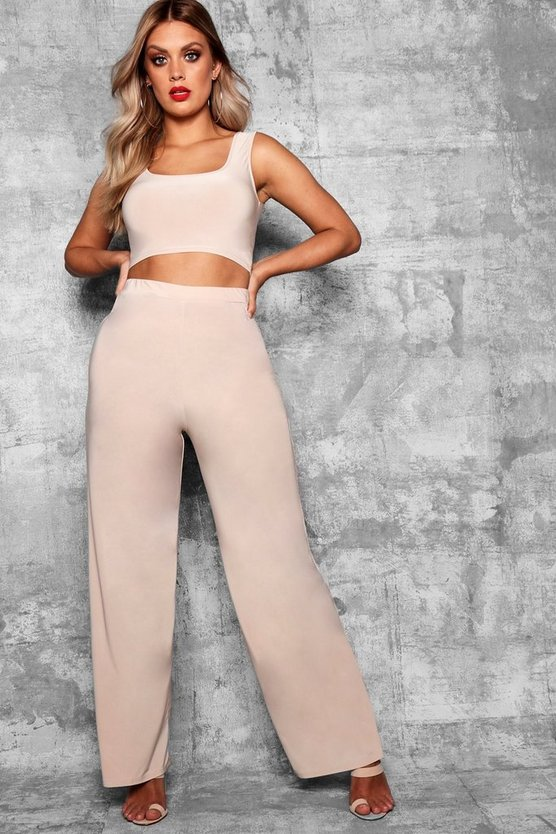 Plus Olivia Wide Leg Trousers