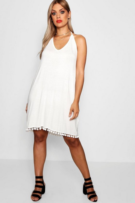 Plus Stacey Pom Pom Cami Dress