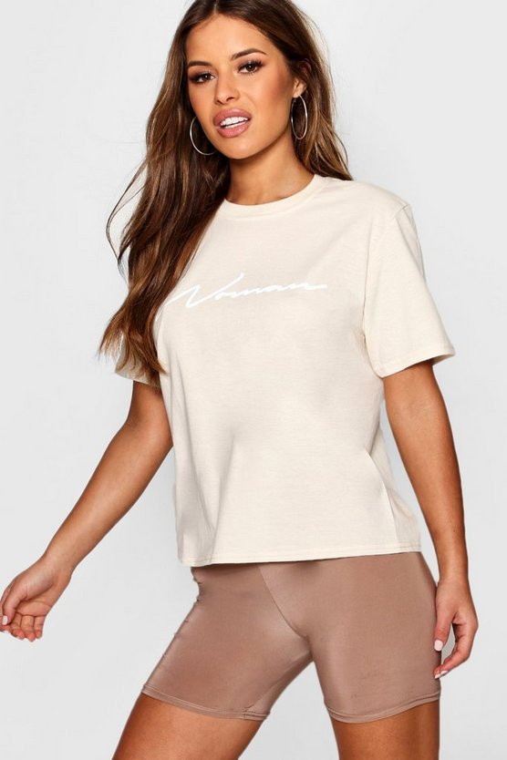 Petite Molly Woman Slogan Tee