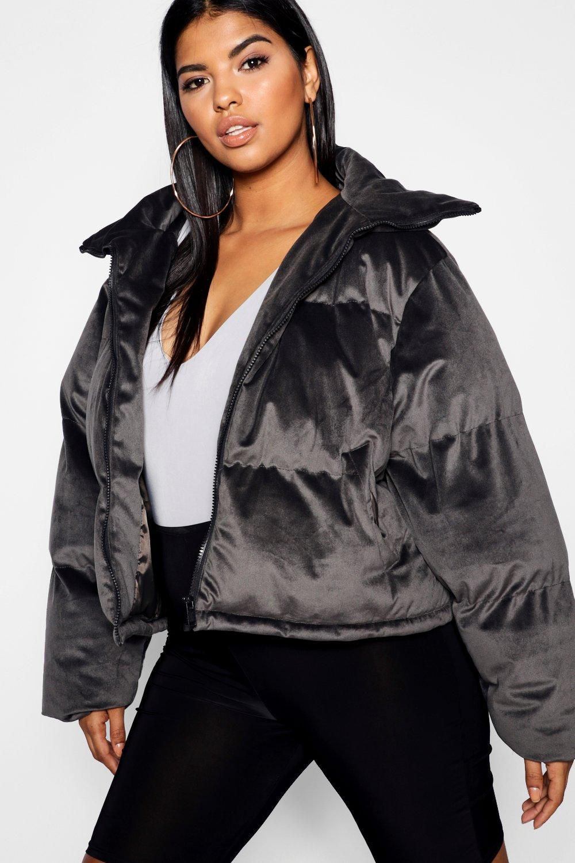 Купить Coats & Jackets, Пуховый жакет Velvet <Плюс сайз>, boohoo