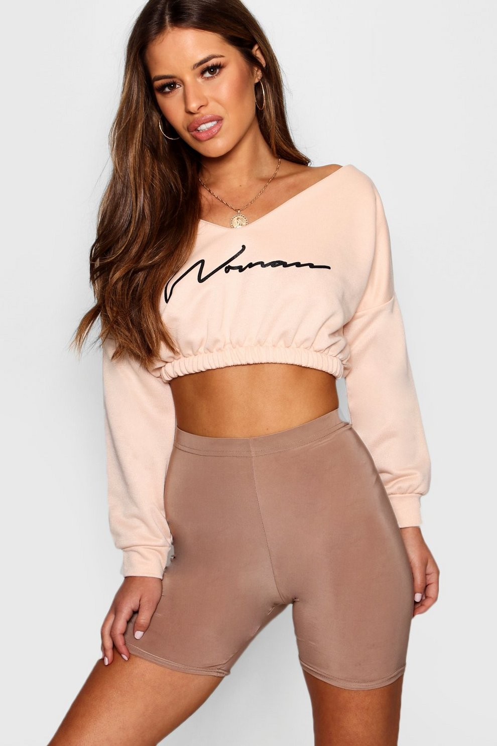 Cheap Price Outlet Sale Boohoo Petite Woman Slogan Ruched Sweat Top Buy Cheap Excellent Cheap Where Can You Find FNpz1AujLO