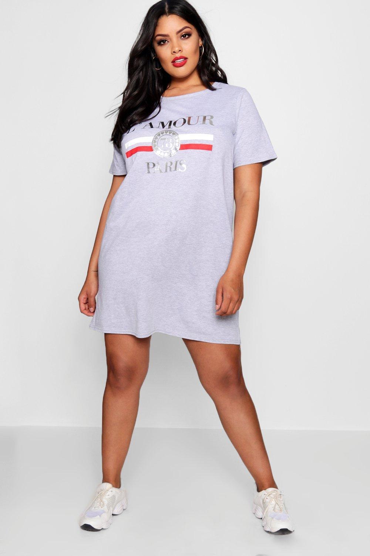 Купить Dresses, Платье-футболка L'amour большого размера, boohoo