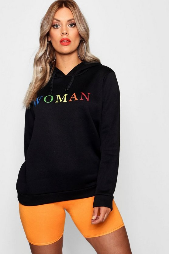 Plus Woman Rainbow Hoody
