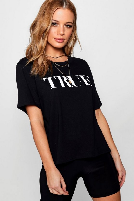 Petite Alicia True Slogan T-Shirt