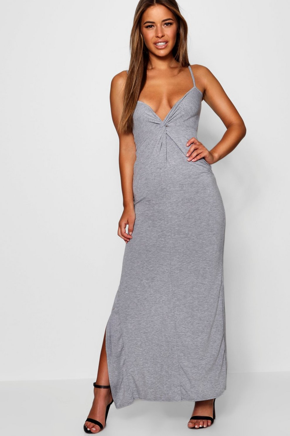 Boohoo Petite Knot Front Back Maxi Dress Amazing Price Sale Online Cheap Pictures Clearance Very Cheap Shop tRjAvmkU