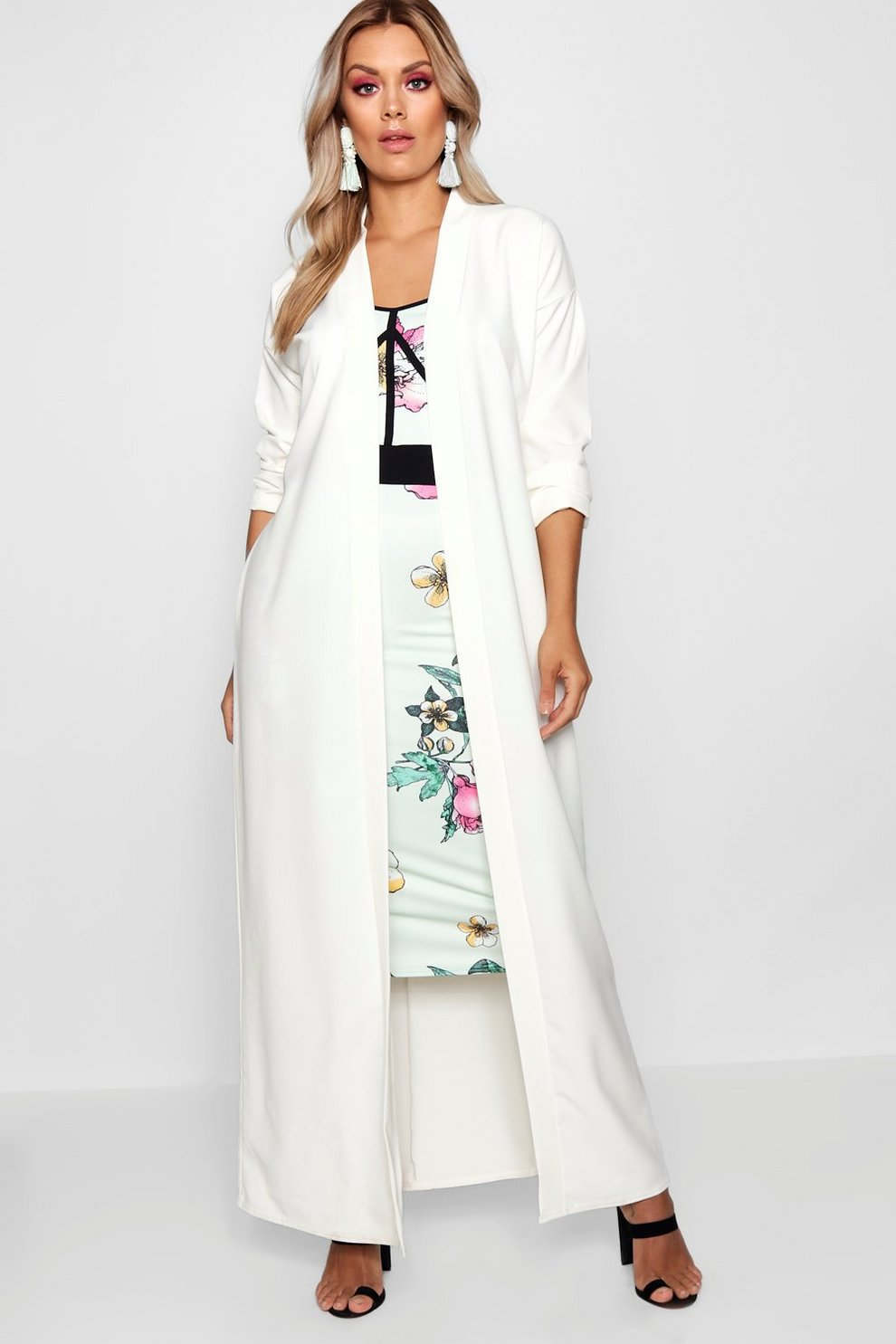 Boohoo Plus Woven Longline Duster Sale Get Authentic 9PX0fr