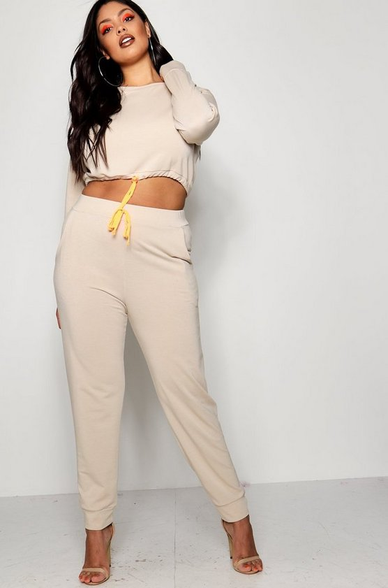 Plus Sophia Neon Toggle Sweat Jogger