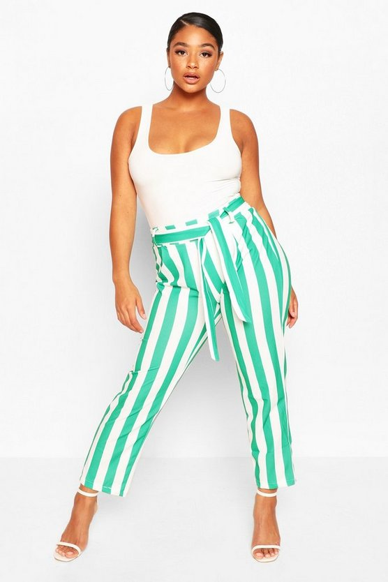 Plus Sadie Striped Culotte by Boohoo