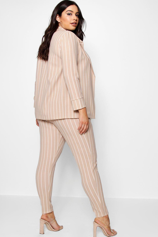 Boohoo Plus Pastel Stripe Blazer & Tailored Trouser Buy Cheap Supply hESgQJudIg