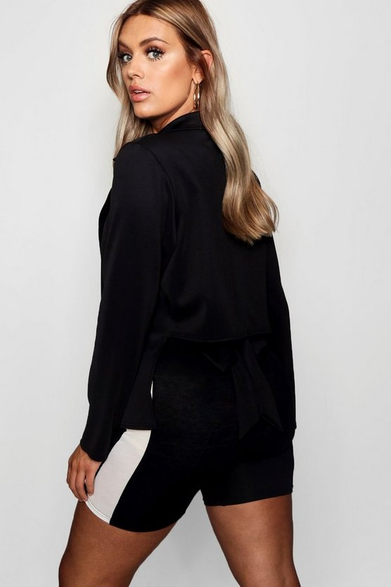 Plus Bow Back Blazer