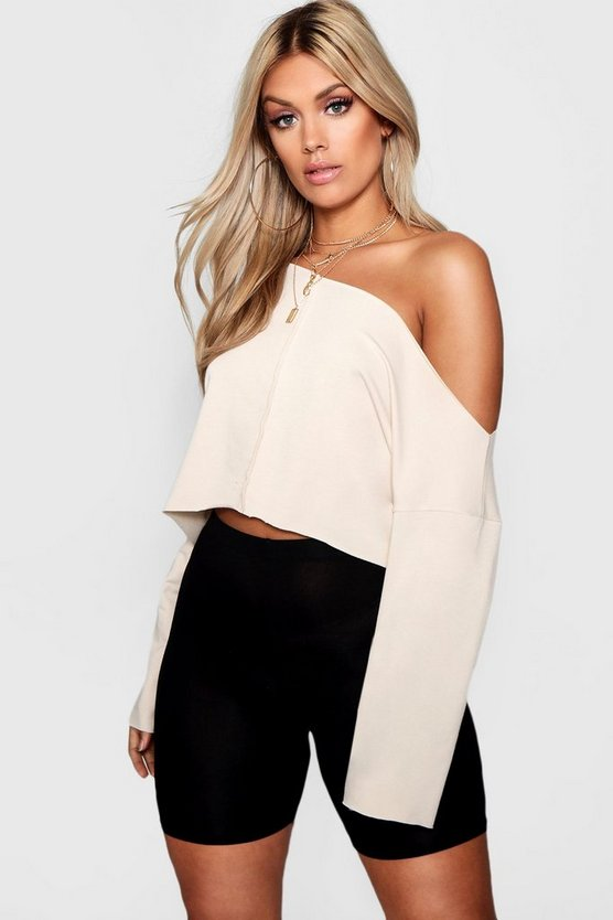 Plus Jess Off Shoulder Tonal Sweater