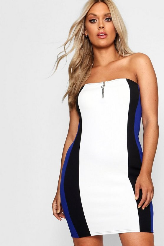 Plus O Ring Bandeau Mini Dress