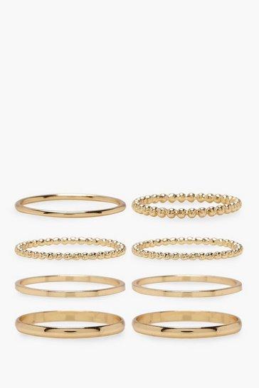 Plus Gold 8 Pack Basic Ring Set