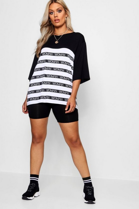 Plus Woman Stripe Tee