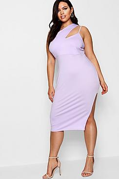 Plus Lizzie Strappy High Split Midi Dress