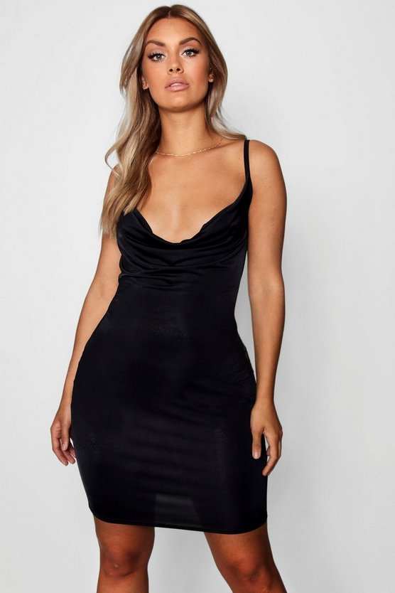 Plus Cowl Neck Bodycon Dress