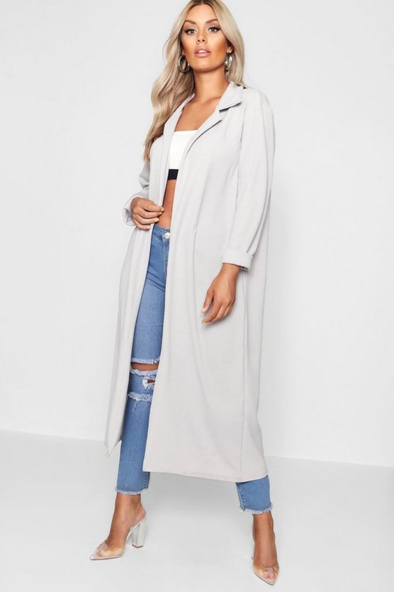 Plus Laura Crepe Longline Duster