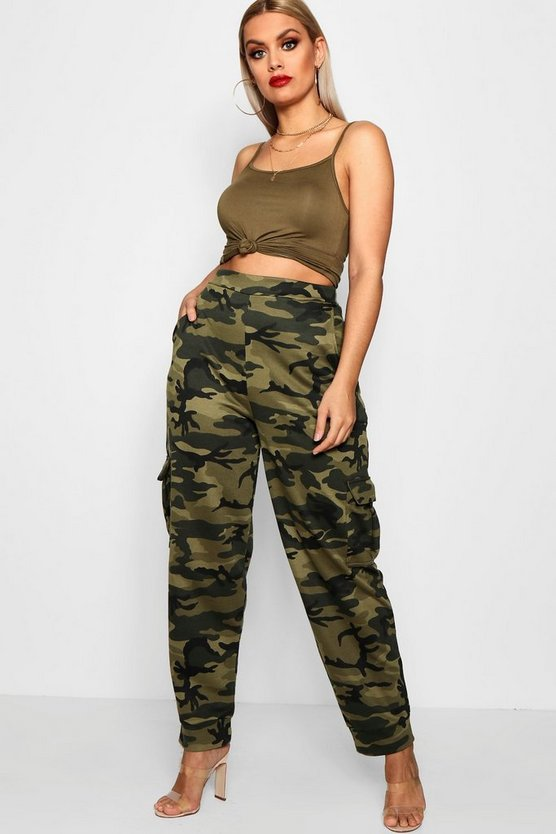Plus Belle Camo Cargo Trouser