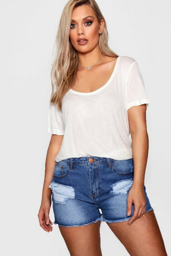 Plus Scoop Neck T Shirt